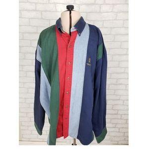 VTG 80's-90's Chaps Color Block Fresh Prince Shirt